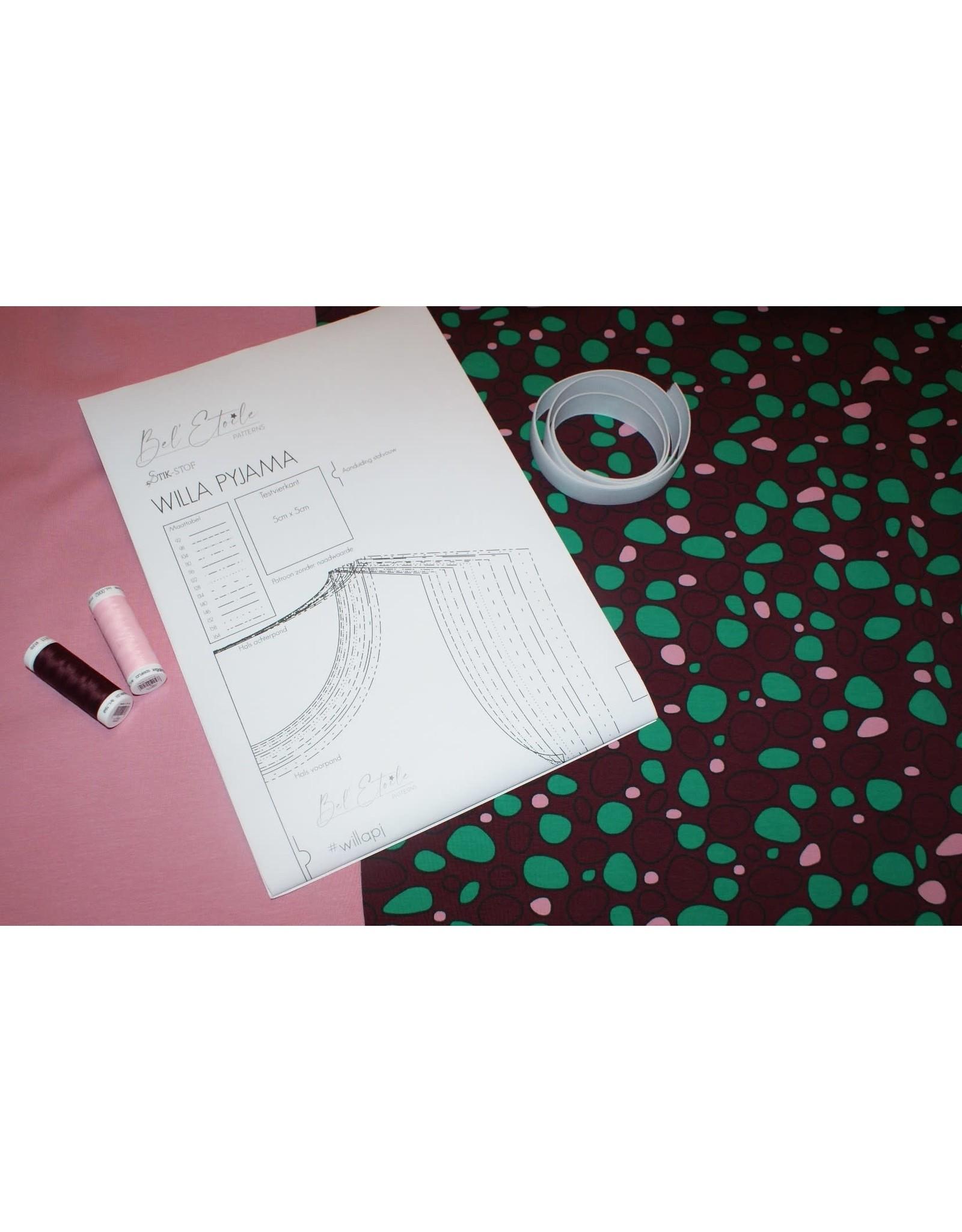 Stik-Stof DIY naaipakketje pyjama stones