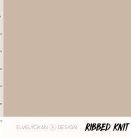 Elvelyckan Ribbed knit cappucino