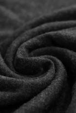 Stik-Stof Angora jersey zwart COUPON 80 cm