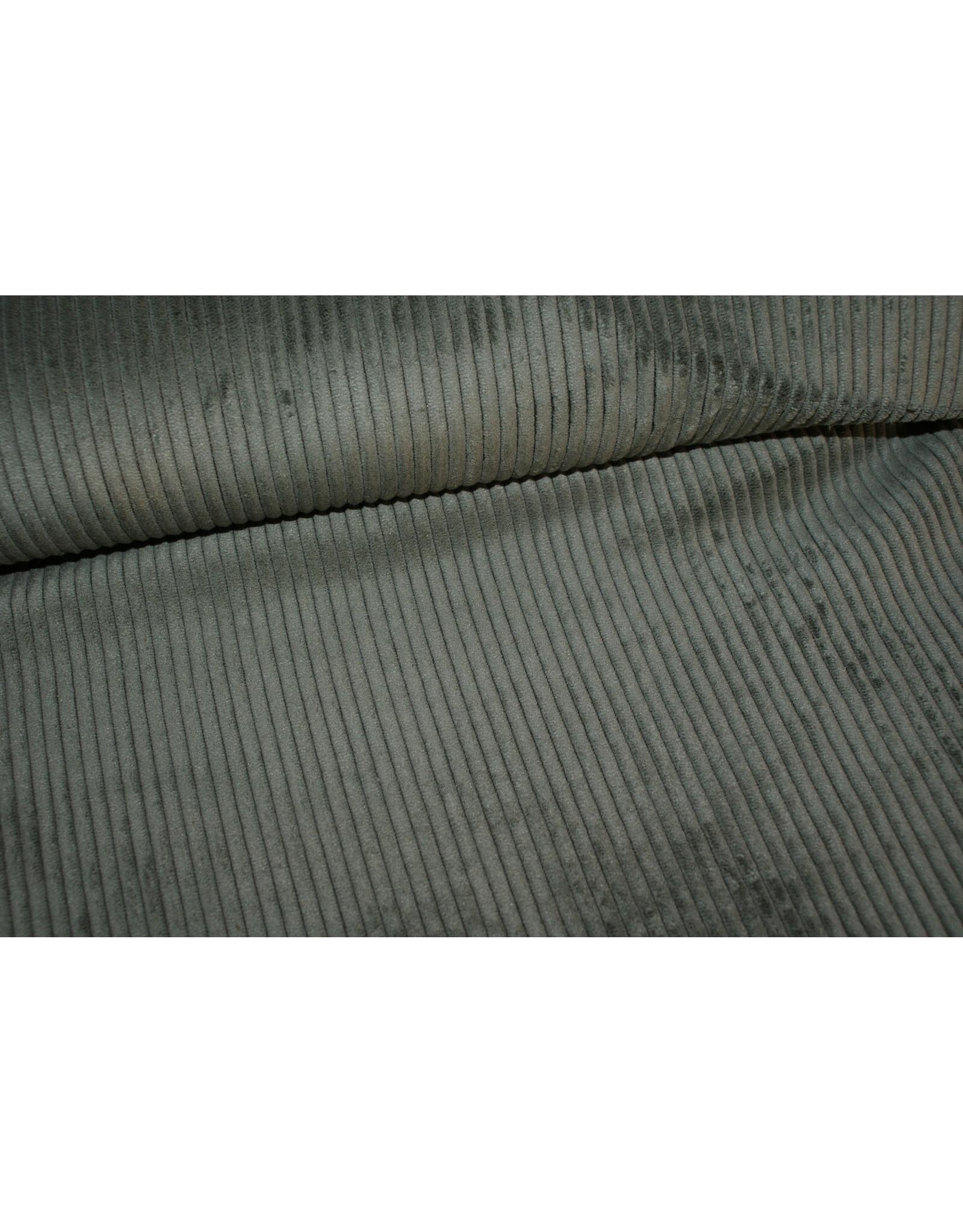 Editex Ribfluweel kaki groen COUPON 95 cm
