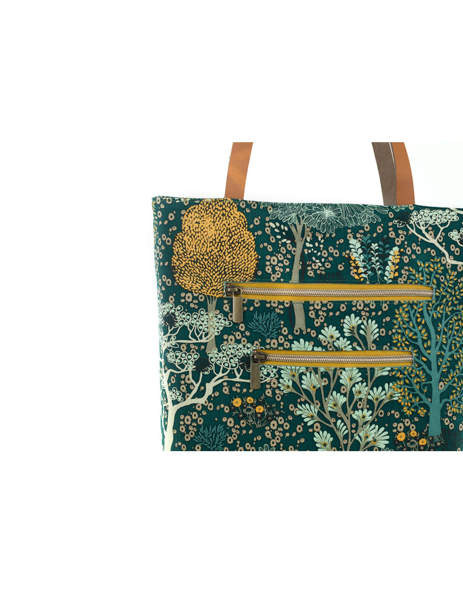 See You At Six Oriental Garden - Cotton canvas gabardine twill-Green gables