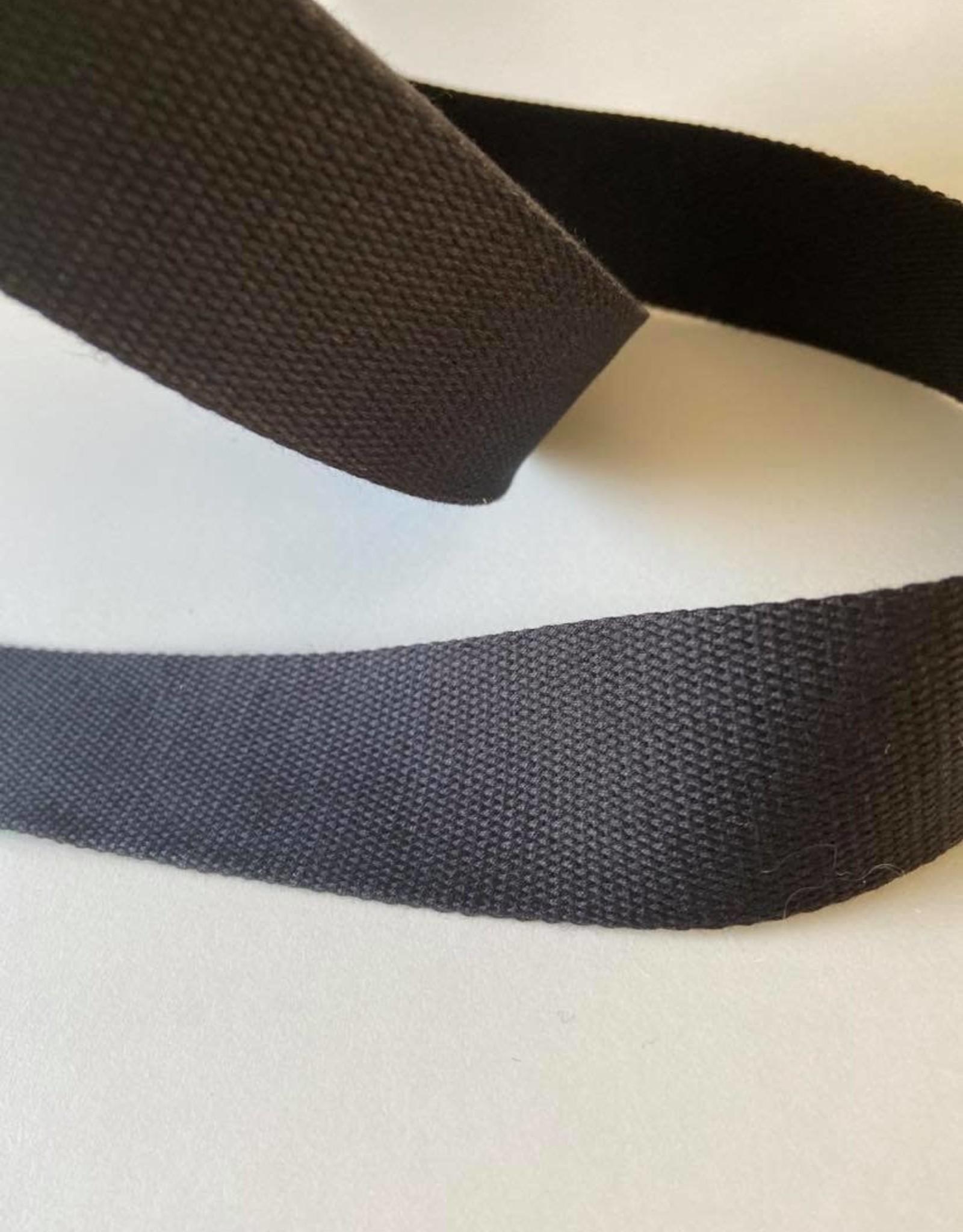 Stik-Stof Tassenband 40mm zwart