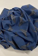 Whales dusty blue organic sweatshirt