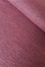 Stik-Stof Oud roze gekookte wol/ polyester