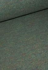 Stik-Stof Groene gekookte wol/polyester