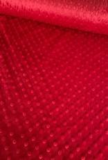 Shannon Fabrics Mincky fleece rood