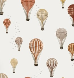 Family fabrics Hot air Balloons jersey COUPON 80 cm