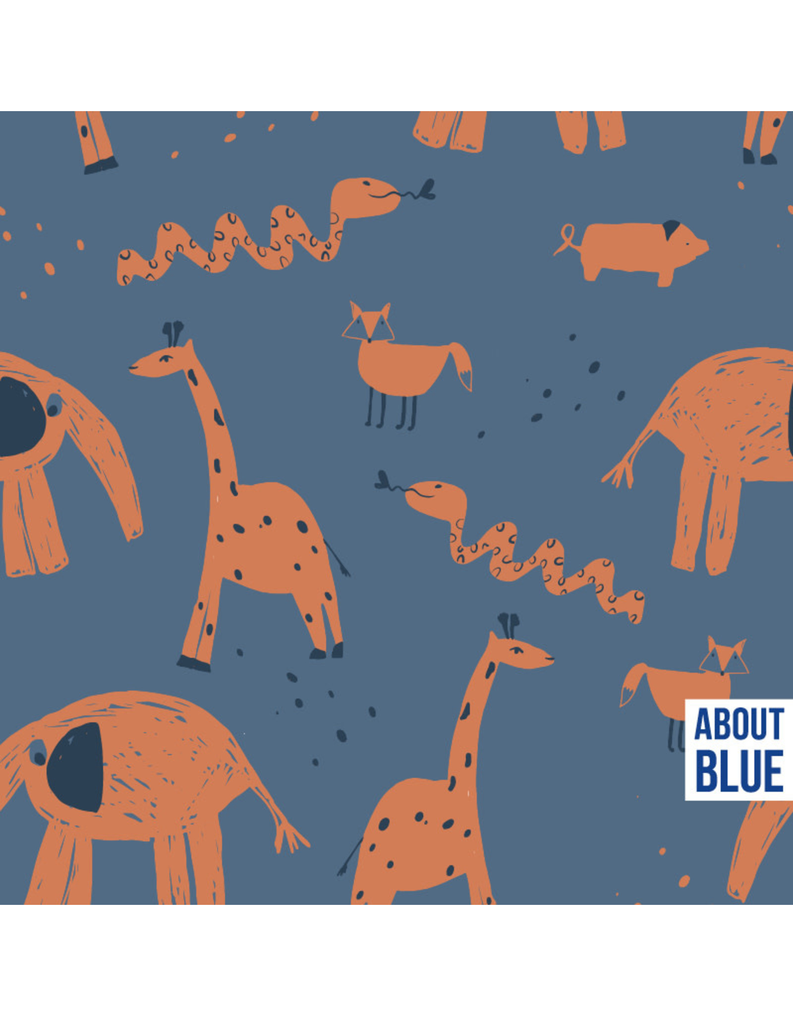 About Blue Fabrics Into the Zoo