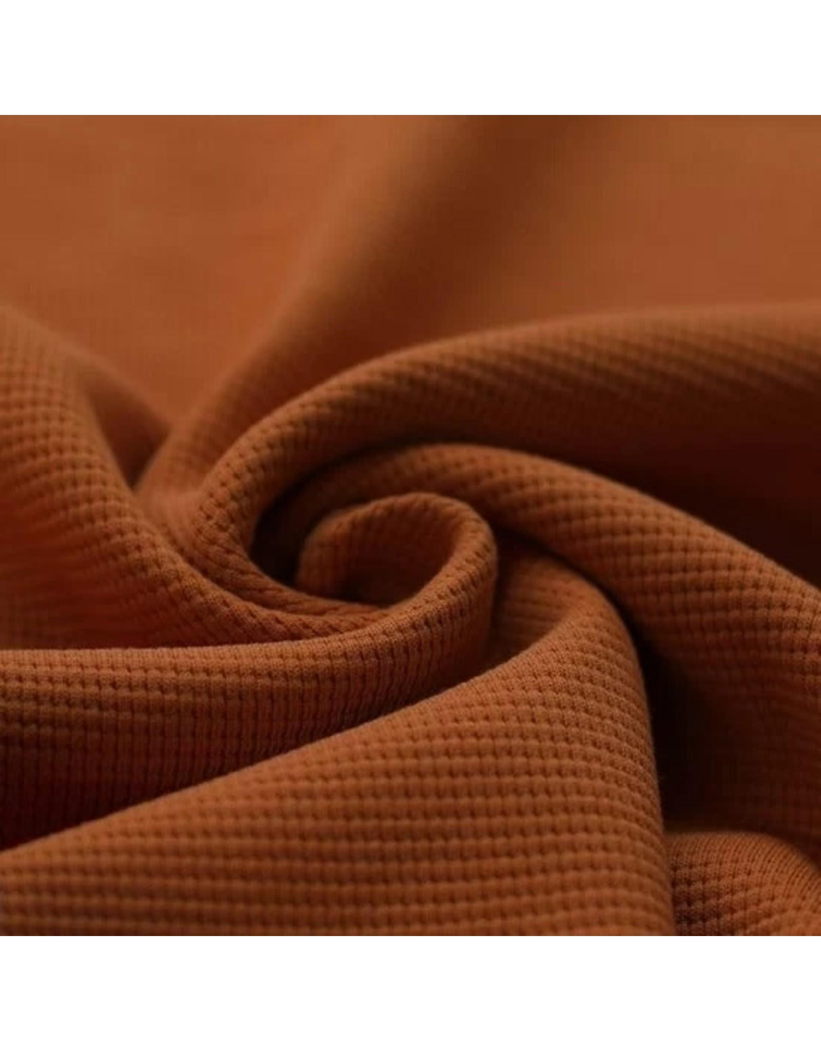 Stik-Stof Wafel knit jersey cognac