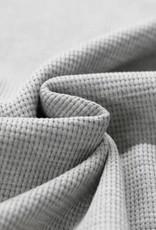 Stik-Stof Wafel knit melange grijs