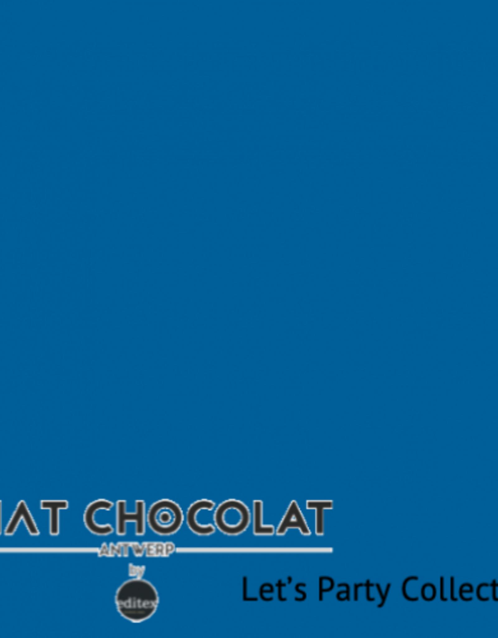 Chat Chocolat Uni viscose let's party blue