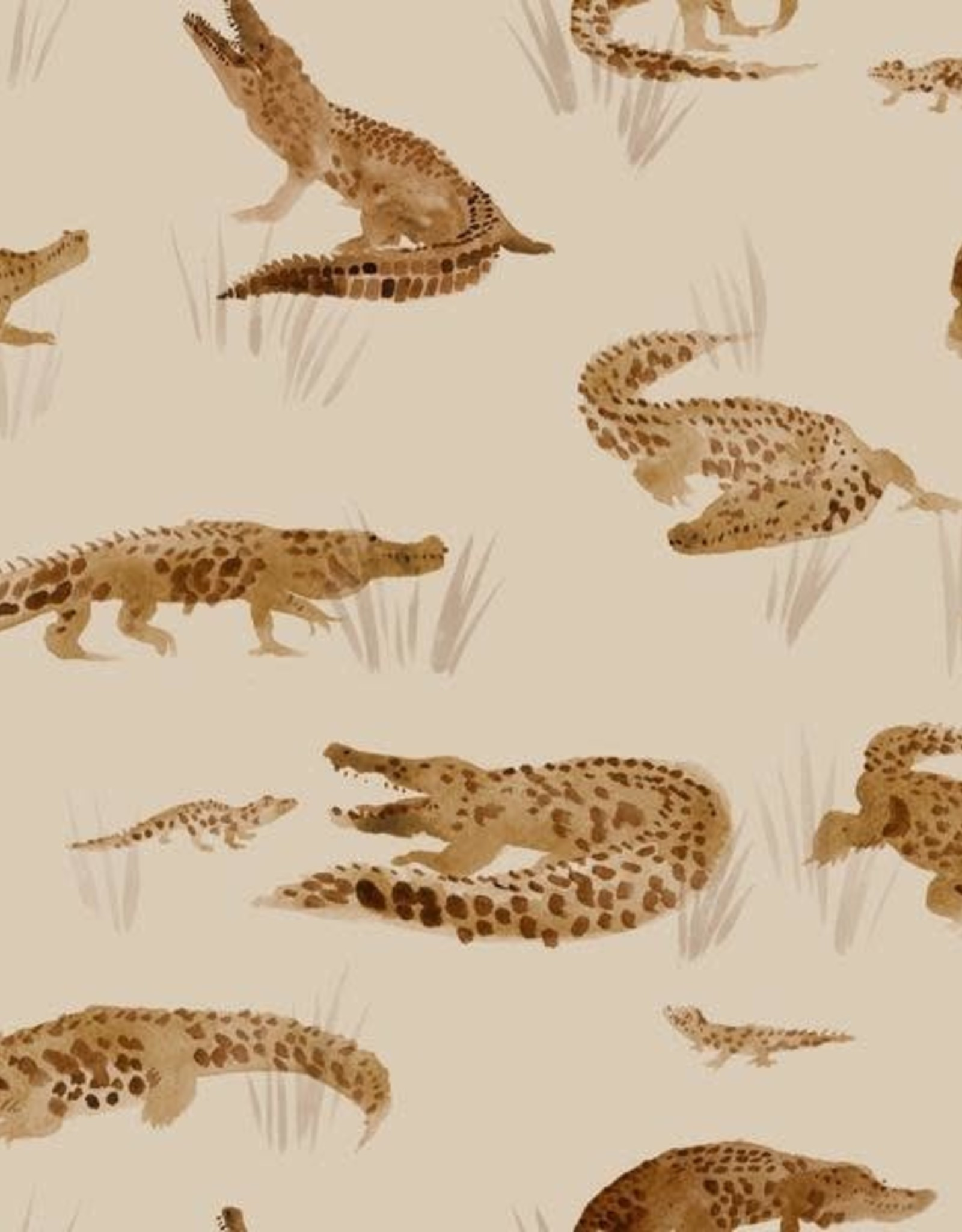 Family fabrics Crocodile jersey