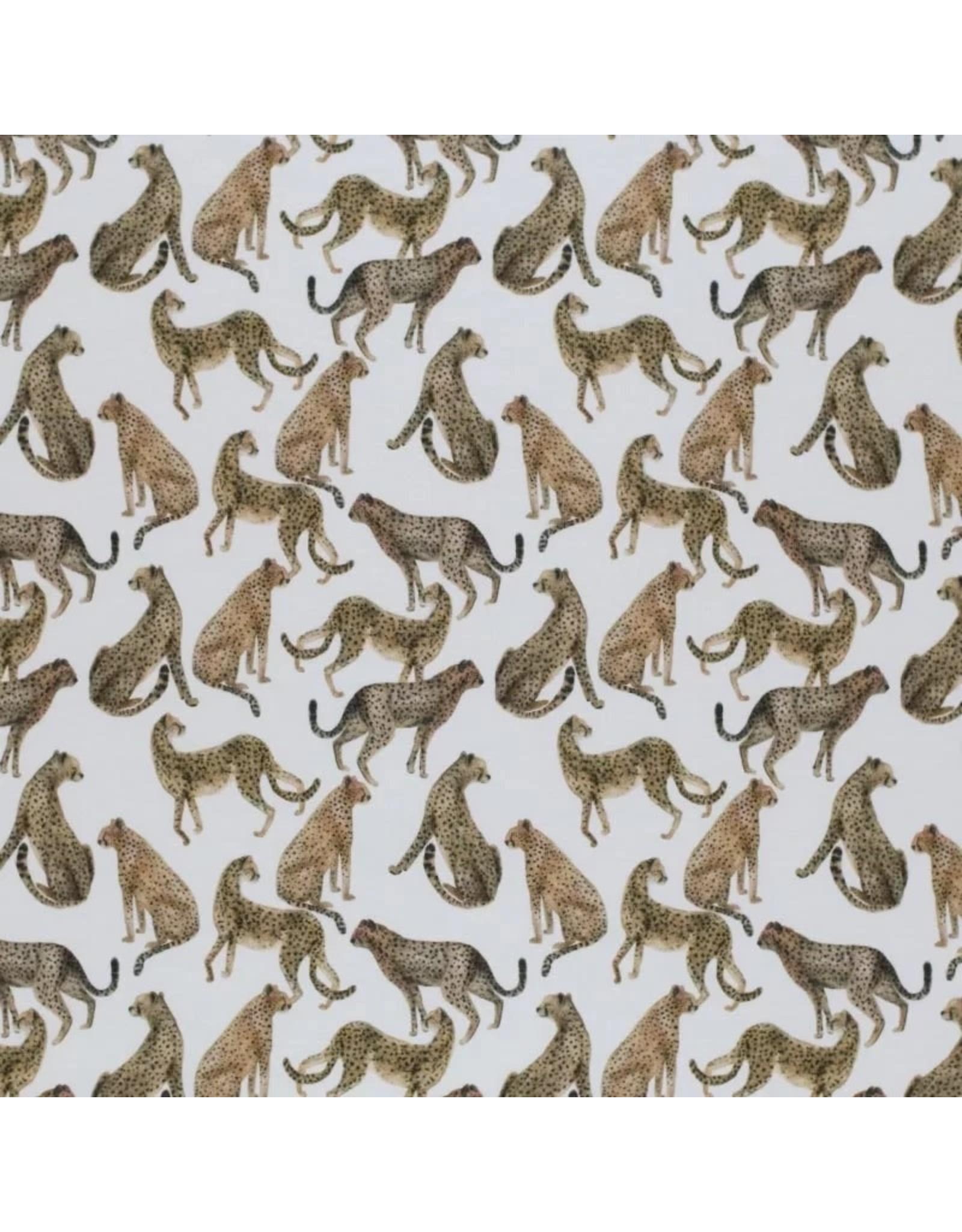 Stik-Stof Jachtluipaard kudde jersey digitale print