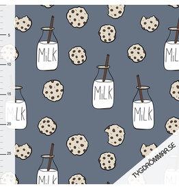 Tygdrömmar Milk N Cookie blue