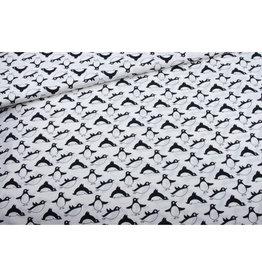 Eva Mouton Pinguin cotton  COUPON 90 cm