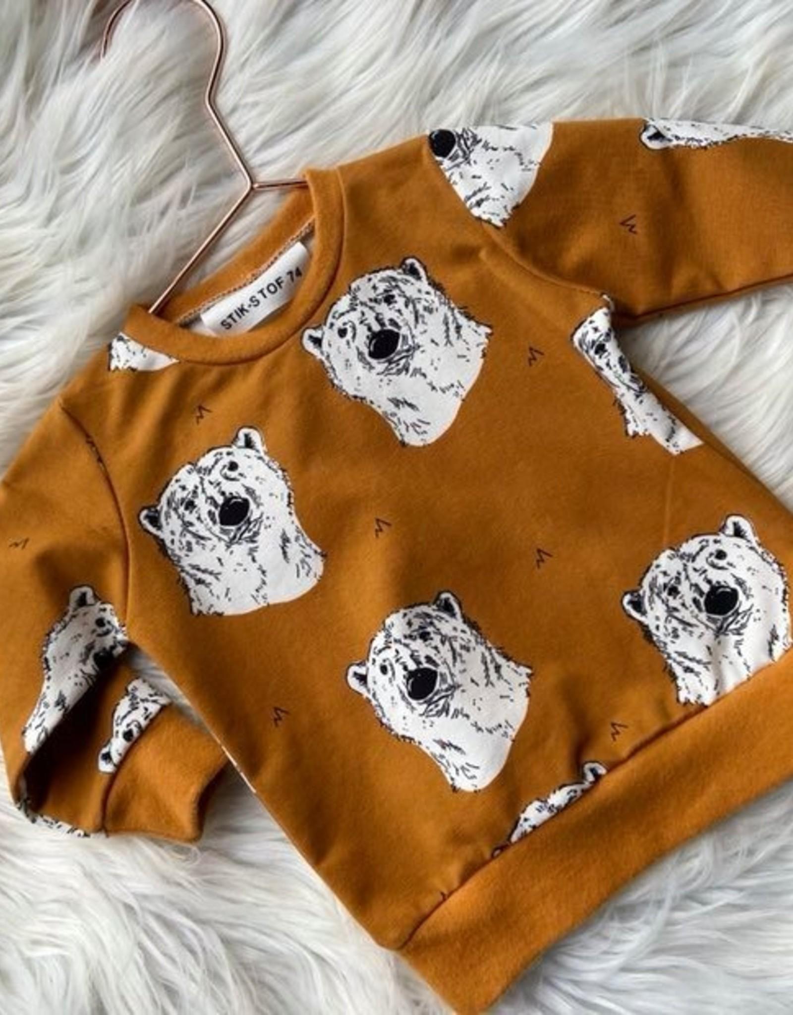 Polar Bear organic sweatshirt burnt ochre