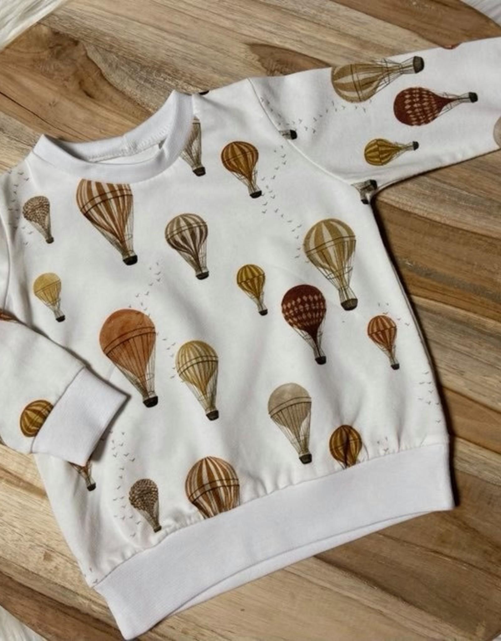 Family fabrics Hot air Balloons jersey COUPON 80 cm