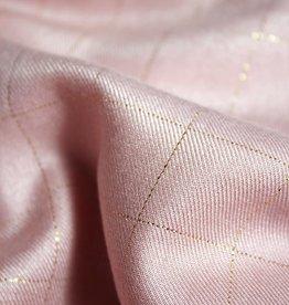 Eglantine & Zoé Carreaux lurex rose perle
