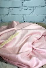 Eglantine & Zoé Rose perle lurex ruit Viscose twill