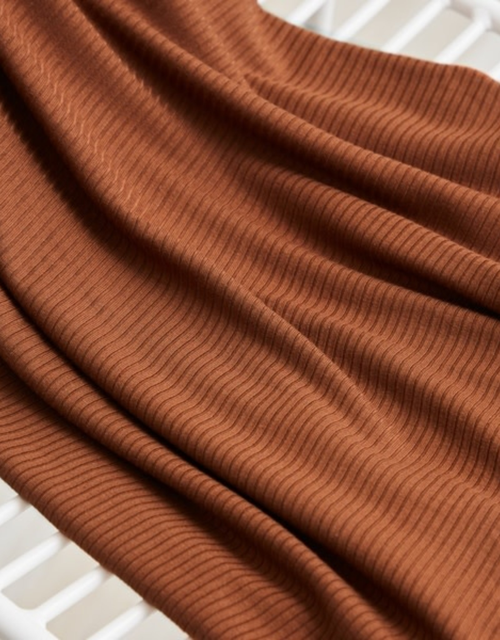 Meet milk Derby ribbed knit Pecan