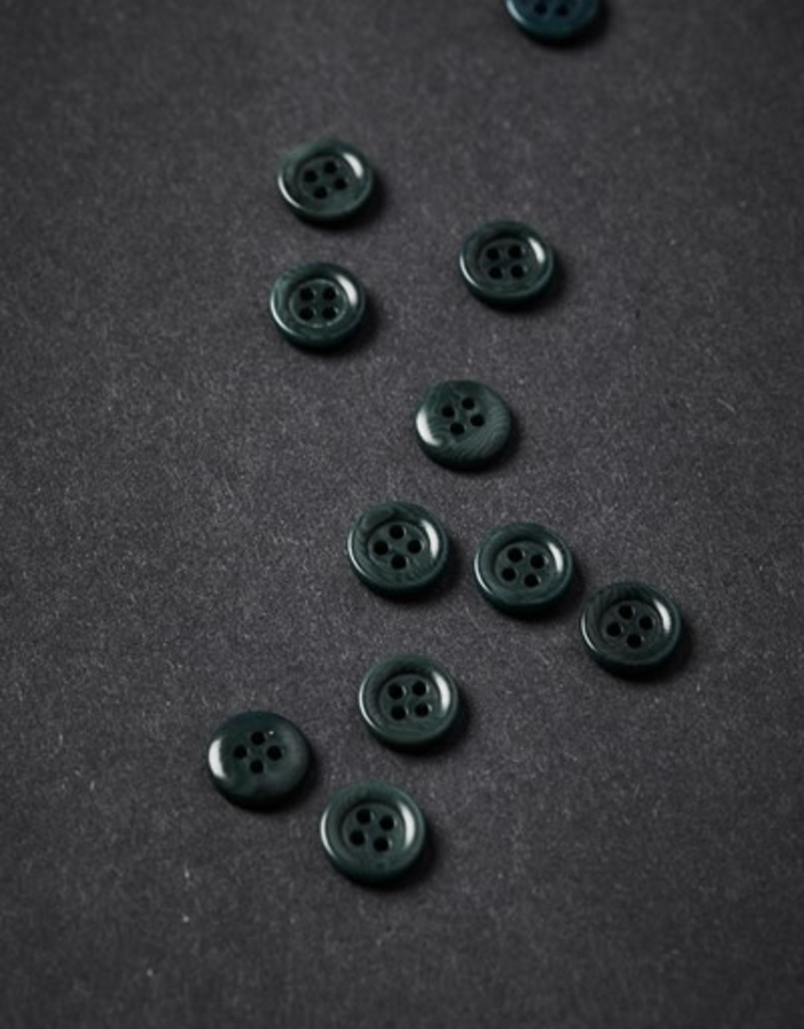 Meet milk Corozo button frame 11mm Emerald