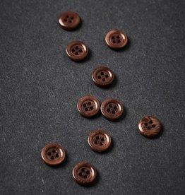 Meet milk Corozo button frame 11 mm Pecan