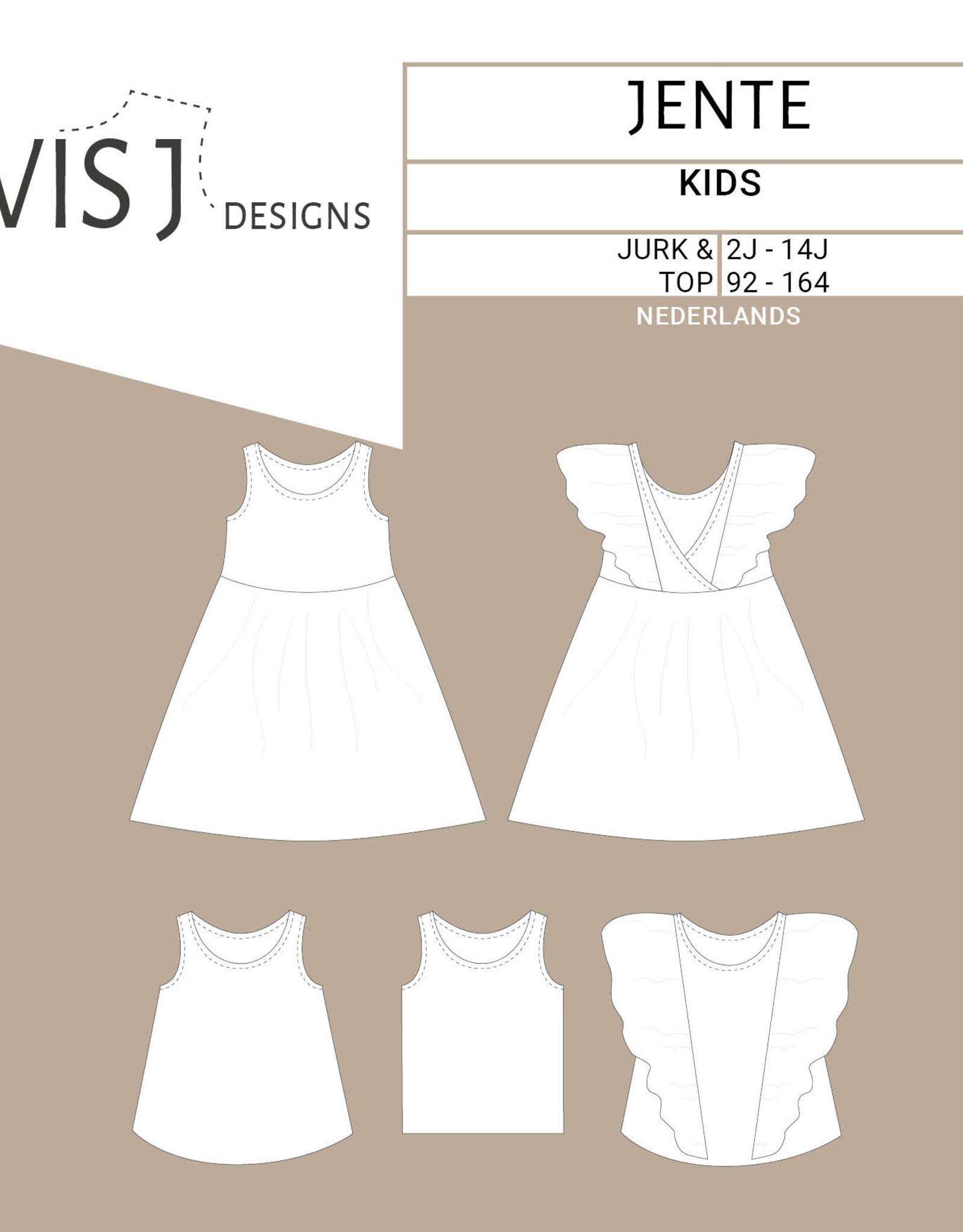 Wisj Jente jurk/top naaipatroon kids