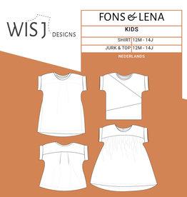 Wisj Fons & Lena jurk/top kids papieren naaipatroon