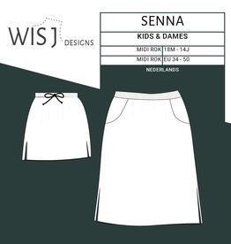 Wisj Senna skirt papieren naaipatroon