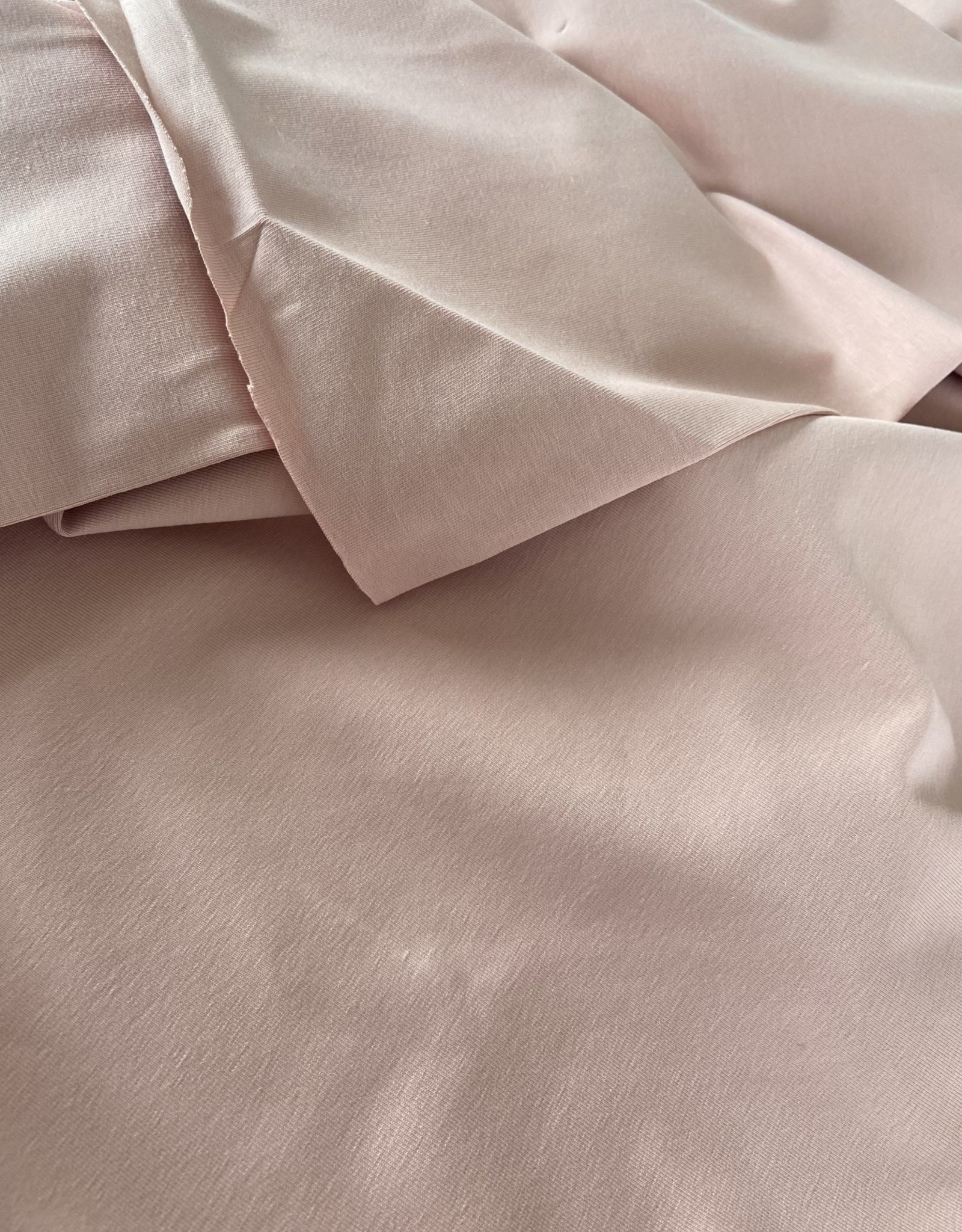 Stik-Stof Katoen jersey nude roze