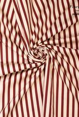 Polytex Red stripe elastisch katoen   MAYA