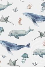 Family fabrics Deep Sea life rib
