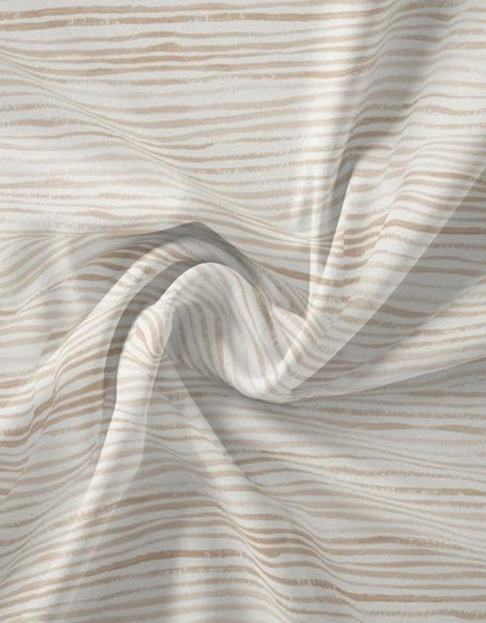 Family fabrics Stripes latte jersey