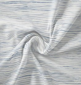 Family fabrics Stripes sky jersey