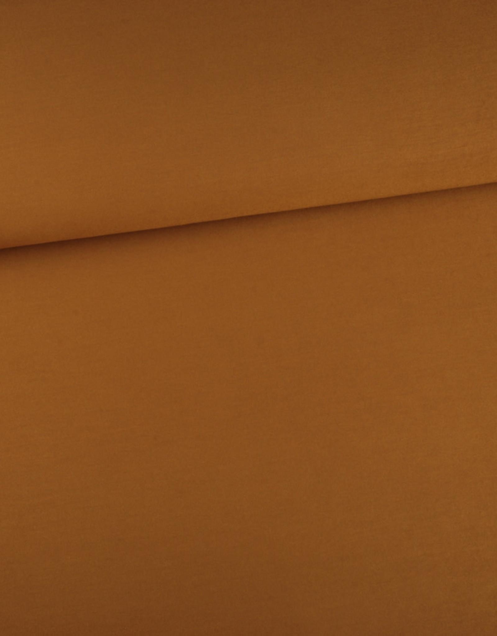 Editex Uni tencel modal jersey bruin/oker