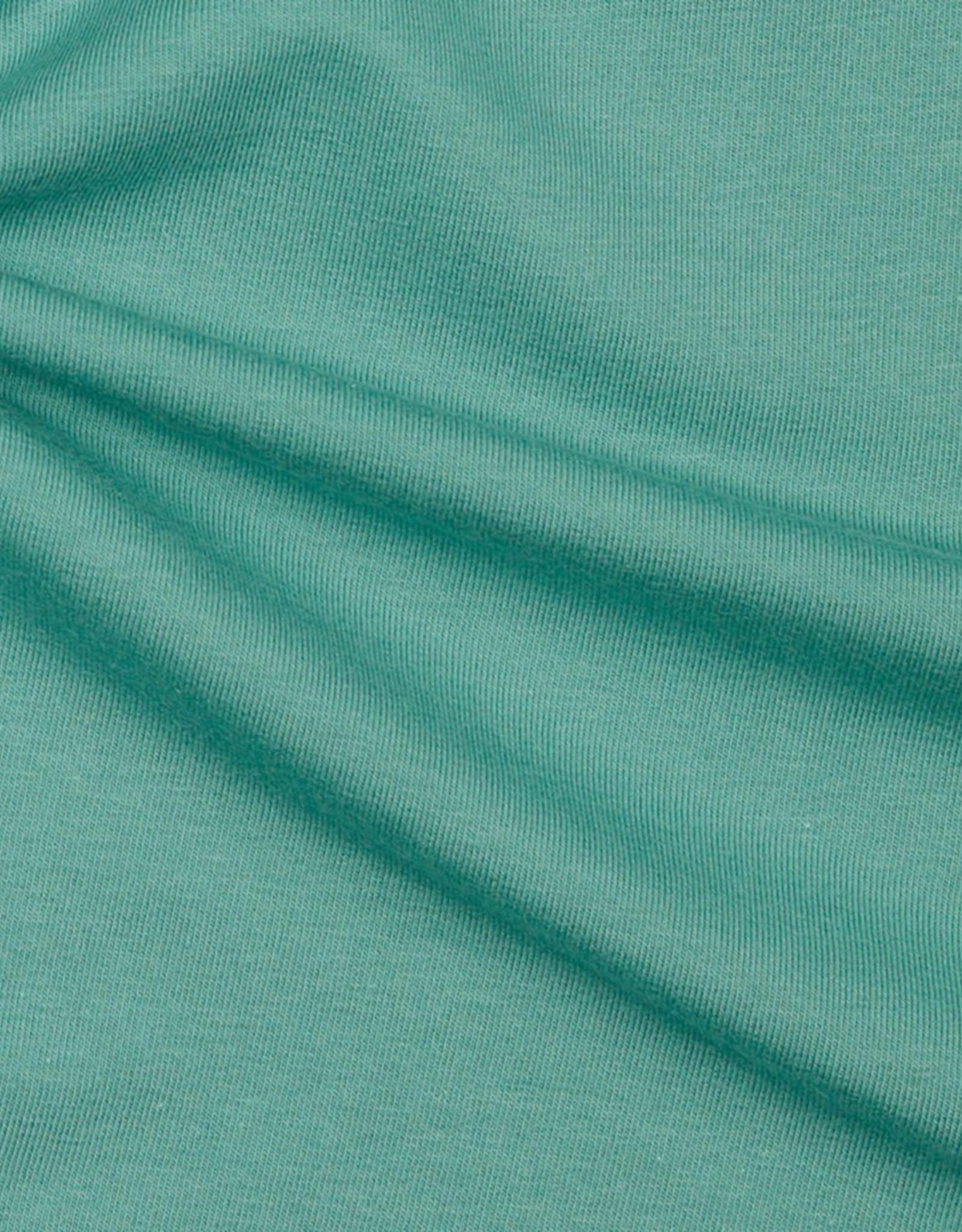 Stik-Stof French terry uni gots donker mint groen