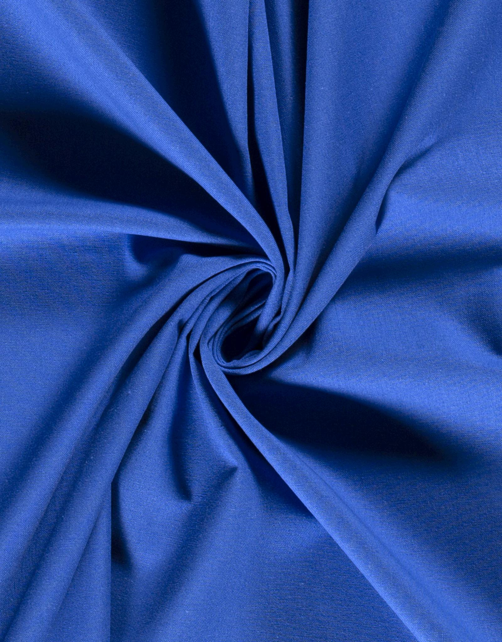 Nooteboom Katoenmix effen blauw