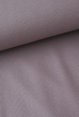 Stik-Stof Rib jersey bruin/paars