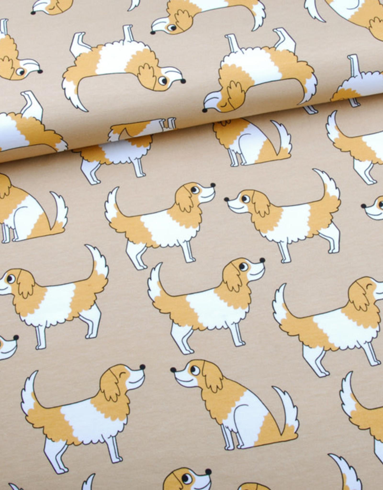 Eva Mouton Doggy beige jersey