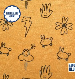 About Blue Fabrics Good vibes only  - Smilicons