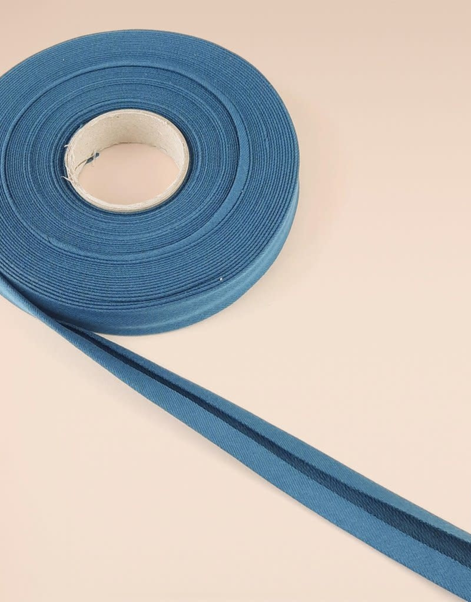 About Blue Fabrics Biais lint Blue wing teal 16