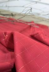 Eglantine & Zoé Carreaux rouge lurex cuivre