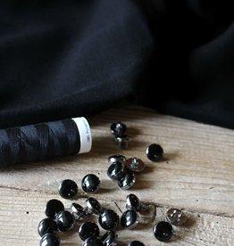 Eglantine & Zoé Knoop Chic noir argent 10 mm