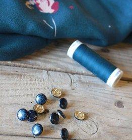 Eglantine & Zoé Knoop Shiny Blue Petrole 10 mm