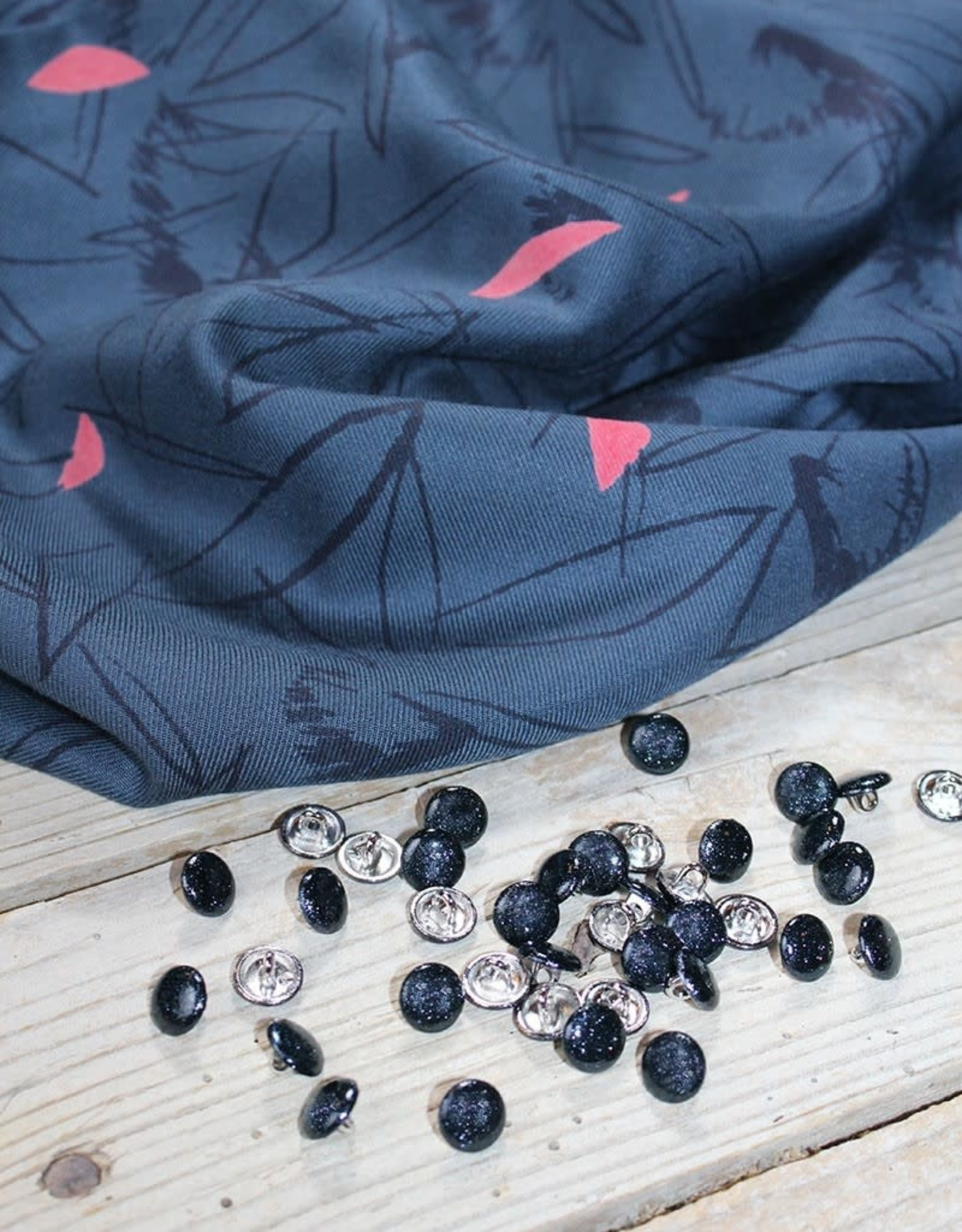 Eglantine & Zoé Knoop Shiny Bleu mineral 10mm