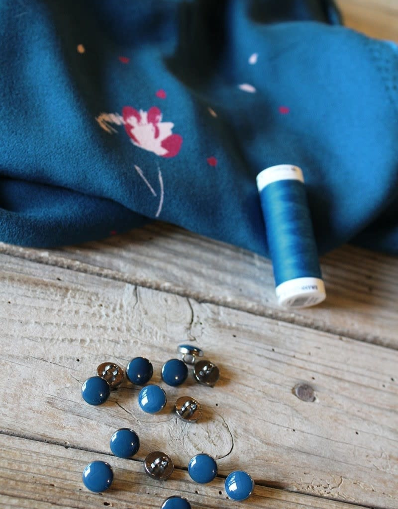 Eglantine & Zoé Knoop chic bleu petrole 10mm