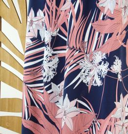 Atelier Jupe Blauw en roze tropische viscose