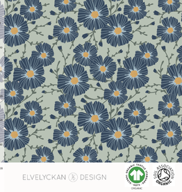 Elvelyckan Floral - sea green french terry