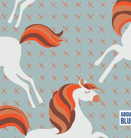 About Blue Fabrics Unicorns Picknick COUPON 1m
