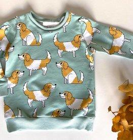 Stik-Stof Sweater hondjes Eva Mouton